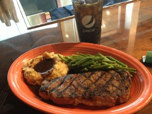 Tuesday Night House Sirloin Steak ($15.99) or Golden Shrimp Dinner ($14.99) Specials