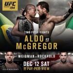 UFC 194 – Aldo vs McGregor
